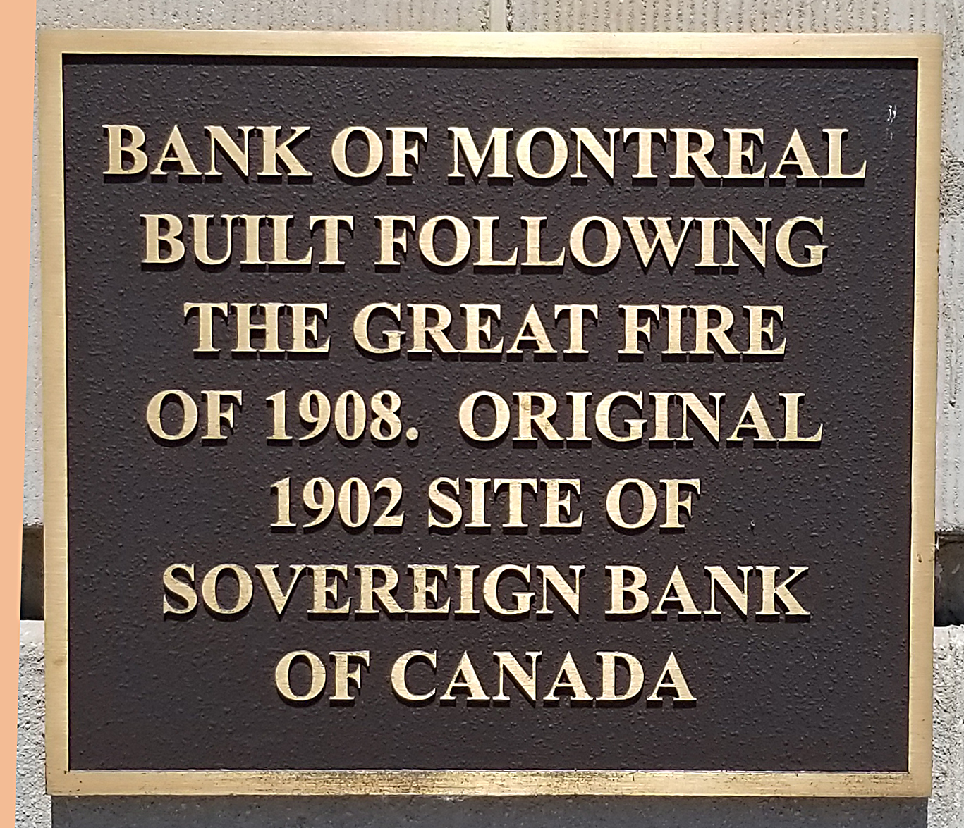 Bank of Montreal plaque