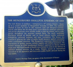 HUNGERFORD SMALLPOX EPIDEMIC OF 1884