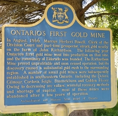 ONTARIO'S FIRST GOLD MINE