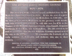 DUNDAS STREET BURYING GROUND 1828-1874