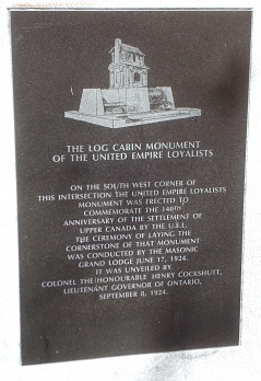 LOG CABIN MONUMENT