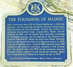 MADOC, FOUNDING OF