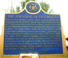 DESERONTO, FOUNDING OF
